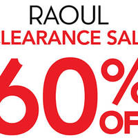 Read more about Raoul 60% Off Clearance Sale @ Paragon 8 Jan - 17 Feb 2016