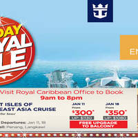 Read more about Royal Caribbean Cruises fr $300 1-Day Sale 7 Jan 2016
