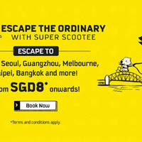 Read more about Scoot Take Off Tuesday fr $8 2hr Promo Fares (7am to 9am) 12 Jan 2016