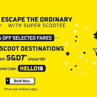 Read more about Scoot 50% Off ALL Destinations 5hr Promo (7am to 12pm) 5 Jan 2016