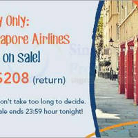 Read more about Singapore Airlines fr $208 1-Day Promo Fares 25 Jan 2016