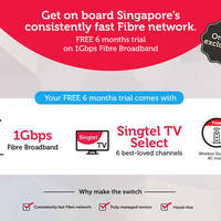 Read more about Singtel 1Gbps Fibre Broadband Free 6-mth Trial Promo 6 - 31 Jan 2016
