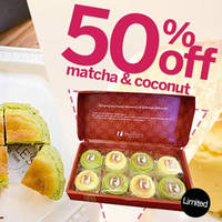 Read more about Snaffles 50% Off 8pcs Catchcakes (Matcha & Coconut) Deal 30 Jan - 7 Feb 2016