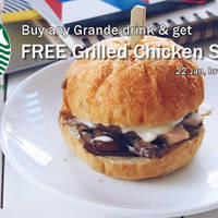 Read more about Starbucks Buy Grande Beverage & Get Free Grilled Chicken Sandwich 22 Jan 2016