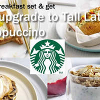 Read more about Starbucks Buy Any Breakfast Set & Get FREE Upgrade 1 - 29 Feb 2016
