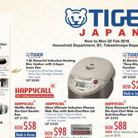 Read more about Takashimaya Tiger, Fissler & Happycall Offers 21 Jan - 22 Feb 2016