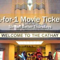 The Cathay 1-for-1 Movie Deal For Singtel Customers 11 Feb 2016