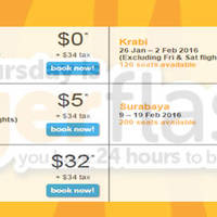 Read more about TigerAir fr $0* 24hr Promo Fares 21 - 22 Jan 2016