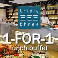 Enjoy 1-for-1 Lunch Buffet (Mon-Sun) at Triple Three Mandarin Orchard Singapore with DBS & POSB Cards