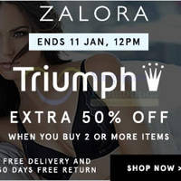 Read more about Triumph Buy 2 & Get 50% Off Online Promo 8 - 11 Jan 2016