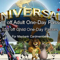 Read more about Universal Studios 15% OFF One-Day Adult Passes For Maybank Cardmembers 1 Jan - 31 May 2016