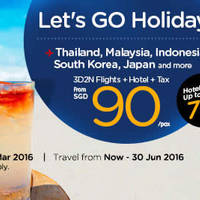 Read more about Air Asia Go fr $90/pax (3D2N Hotel, Flights + Taxes) Holiday Sale 29 Feb - 3 Apr 2016