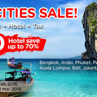 Air Asia Go fr $90/pax (3D2N Hotel, Flights + Taxes) Hot Cities Sale 8 - 21 Feb 2016