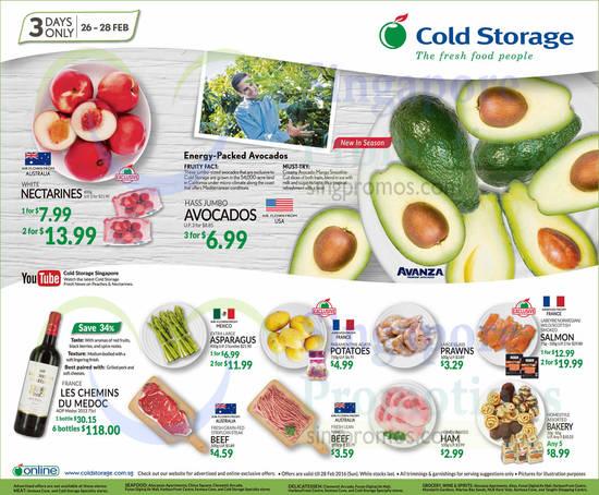 Avocados, Aspargus, Beef, Potatoes, Glass Prawn, Bakery, Smoked Salmon