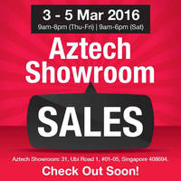 Read more about Aztech Showroom Sale 3 - 5 Mar 2016