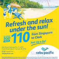 Cebu Pacific Clark Promo Fares 9 - 11 Feb 2016