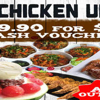 Chicken Up 40% Off $50 Cash Voucher Deal From 13 Feb 2016