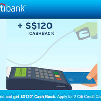 Citibank Apply For 2 Credit Cards & Get $120 Cashback 14 Feb - 31 Mar 2016