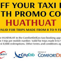 Comfort $8 Off Taxi Fares via ComfortDelGro Taxi Booking App 8 - 9 Feb 2016