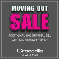 Read more about Crocodile Moving Out Sale @ West Mall From 3 Feb 2016