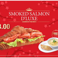 Delifrance Buy Salmon D'luxe Sandwich & Get FREE Soup-of-the-Day 10 - 29 Feb 2016