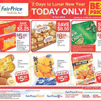 Fairprice 1-Day CNY Deals (49% Off Ferrero Rocher, Yeo's & More) 6 Feb 2016