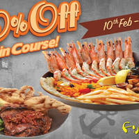 Fish & Co 50% Off 2nd Main Course (Weekdays) 10 Feb - 8 Mar 2016