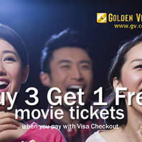 Golden Village Buy 3 Get 1 FREE with Visa Checkout (Fri/Sat/Sun) 1 Feb - 31 Dec 2016