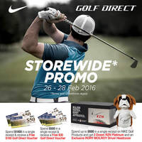 Read more about Golf Direct Spend $500 & Get Free $30 Voucher 26 - 28 Feb 2016