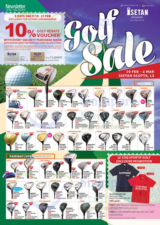 Golf Sale Drivers, Fairway, Hybrid, Utlity