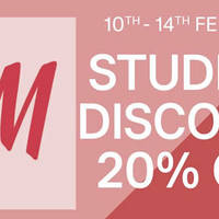 H&M 20% OFF Storewide For Students 10 - 14 Feb 2016