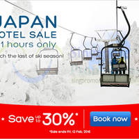 Hotels.Com Up To 30% Off Japan Hotels 101 Hour Sale 9 - 12 Feb 2016