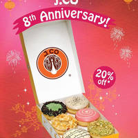 J.CO Donuts & Coffee 20% Off Donuts 8th Anniversary Promo 9 Feb 2016