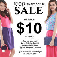 JOOP Warehouse Sale 12 - 19 Feb 2016