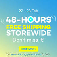 Read more about Lazada Free Shipping Storewide 48hr Promo 27 - 28 Feb 2016