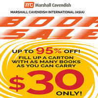 Marshall Cavendish Books $30 Fill-All-You-Can Box Sale 12 - 20 Mar 2016