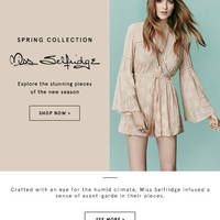 Read more about Miss Selfridge Spring Collection Now Available @ Zalora From 5 Feb 2016