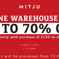 Mitju Warehouse Sale (Online) 10 - 14 Feb 2016