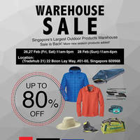 Read more about Outdoor Life Warehouse Sale 26 - 28 Feb 2016