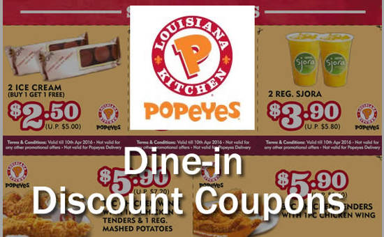 popeyes dine in discount coupons 1 for 1 more 16 feb 10 apr 2016. Black Bedroom Furniture Sets. Home Design Ideas