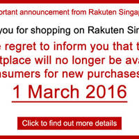 Rakuten Singapore Marketplace Closing From 1 Mar 2016