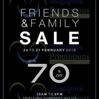 Read more about Samsonite Friends & Family Sale @ TripleOne Somerset 24 - 27 Feb 2016
