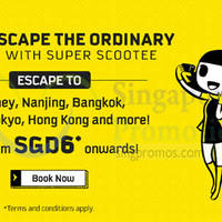 Scoot fr $6* Take Off Tuesday Promo (from 7am) 9 Feb 2016