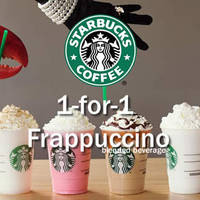 Starting from 3 May, Starbucks Singapore will be having a 1-for-1 happy hour promotion for Frappuccino beverages from Tuesdays to Thursdays, 2-4pm
