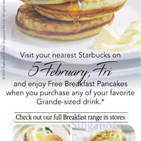 Read more about Starbucks FREE Breakfast Pancakes w/ Any Grande-Sized Drink Purchase 1-Day Promo 5 Feb 2016