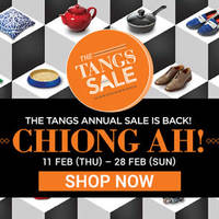 The Tangs Annual Sale 11 - 28 Feb 2016