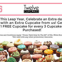 Read more about Twelve Cupcakes Buy 3 Get 1 FREE 1-Day Promo 29 Feb 2016
