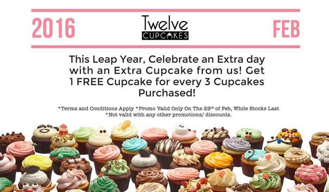 Twelve Cupcakes Feat 29 Feb 2016