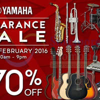 Yamaha Music Clearance Sale 19 - 21 Feb 2016