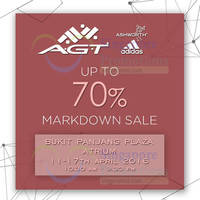 Read more about A.G.T Marketing (adidas, Ashworth) Markdown Sale @ Bukit Panjang Plaza 11 - 17 Apr 2016